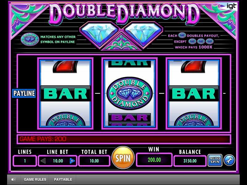 Играем Double Diamond в онлайн казино Вулканбет на сайте вулканбет.com